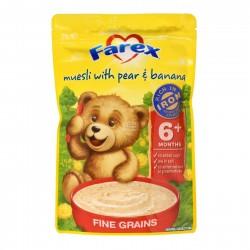 Farex婴幼儿高铁婴儿谷物米粉米糊 梨子香蕉味 6个月+125g
