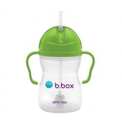 B.Box 澳洲 (荧光绿) 宝宝重力吸管杯 防漏婴儿童手柄 学饮训练杯 适用6个月以上宝宝