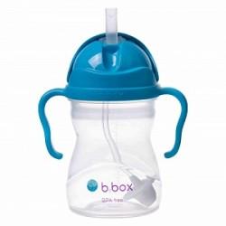 B.Box 澳洲 (深蓝色) 宝宝重力吸管杯 水杯 重力杯 防漏婴儿童手柄 学饮训练杯 适用6个月以上宝宝