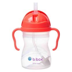 B.Box 澳洲 (西瓜红) 宝宝重力吸管杯 水杯 重力杯 防漏婴儿童手柄 学饮训练杯 适用6个月以上宝宝