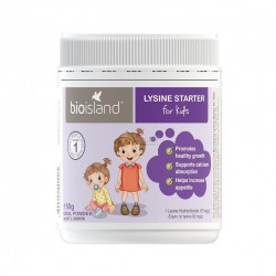 Bioisland LYSINE STARTER for kids  生物岛 赖氨酸黄金助长素 生长素 4周-5岁适用(一段) 150g    08/2022