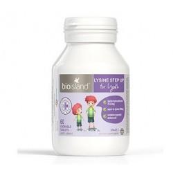 Bioisland LYSINE STEP UP for youth 生物岛 《新款》赖氨酸黄金助长素  6-24岁适用(二段) 60片 黑加仑味      1/2023