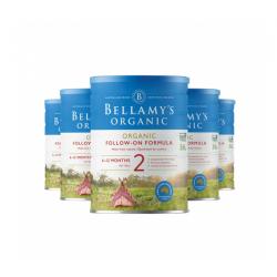 Bellamy's 贝拉米婴儿有机奶粉2段*6罐 适合6-12个月宝宝 6罐包邮 10/21