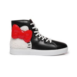 【1件包邮】Ever ugg hello kitty hi-top sneaker 成人中邦运动鞋 黑色#37
