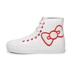 【1件包邮】Ever ugg hello kitty hi-top sneaker 成人中邦运动鞋 白色#36