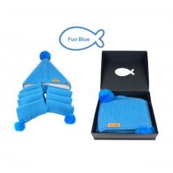 【1件包邮】Littlefish  kids scarf 驼羊毛儿童围巾帽 三色可选