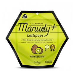 Manudy+ 新西兰麦卢卡MGO250+蜂蜜棒棒糖 奇异果味 12支入 保质期:10/21